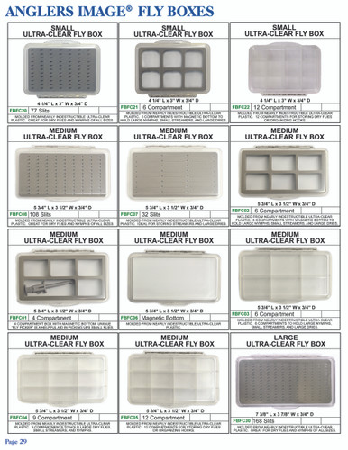 Anglers Image Medium Ultra Clear Compartment Fly Box (FBFC01)