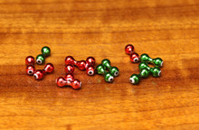 Hareline Nickle BallzEyes (Anodized Red w/ White Eye, Anodized Green w/ White Eye)
