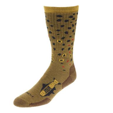 Rep Your Water Merino Wool Socks- Brown Trout