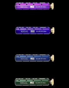 Regal Vise Tool Bars- CC-V Ultra Violet (top left), CC-P Pitch Purple (top right), CC-B Royal Blue (bottom left), CC-G Rustic Pine (bottom right)