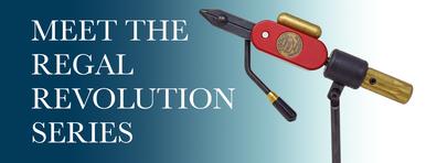 Regal Revolution Fly Tying Vise- Custom Colors CC-R (Hot Rod Red)