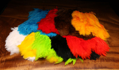 Hareline Dyed over White Soft Hackle Marabou Patch