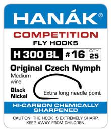 Hanak H 300 BL Original Czech Nymph Fly Tying Hook