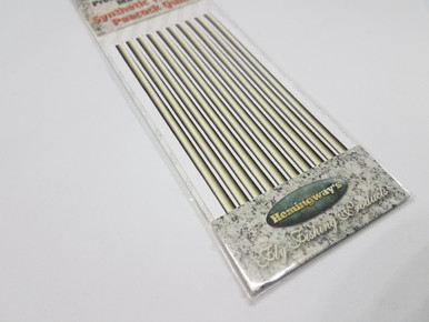 Hemingway's Synthetic Tapered Peacock Quills (Natural)