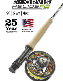 Orvis Helios 3F 9 Foot 6 Weight Fly Rod- Outfit