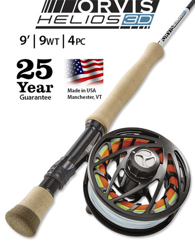 Orvis Helios 3D 9 Foot 9 Weight Fly Rod- Outfit