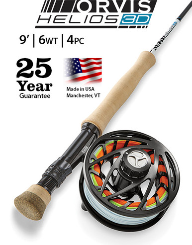 Orvis Helios 3D 9 Foot 6 Weight Fly Rod- Outfit