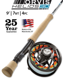 Orvis Helios 3D 9 Foot 7 Weight Fly Rod- Oufit