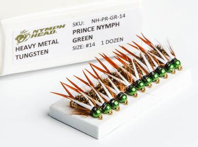 Flymen Nymph-Head HM Green Prince Nymph