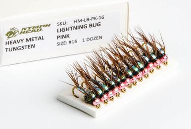 Flymen Nymph-Head HM Lightning Bug Nymph (Pink)