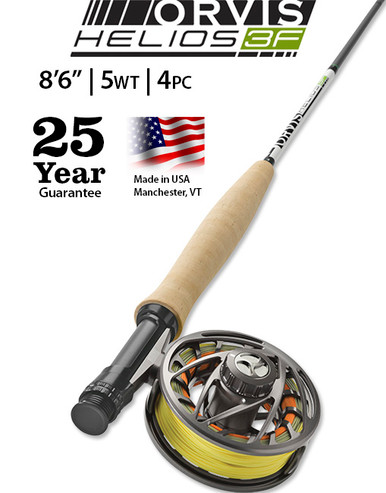 """Orvis Helios 3F (Finesse) 8' 6"""" 5 Weight 4 Piece"""