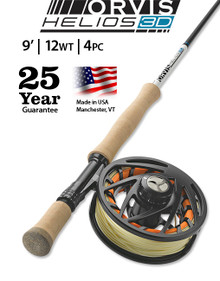 Orvis Helios 3D (Distance) 912-4 Fly Rod  (Complete Outfit)