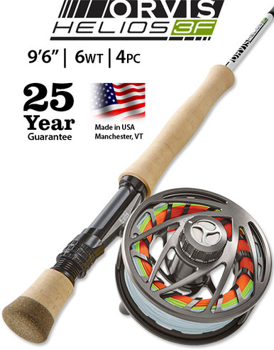 """Orvis Helios 3F 9' 6"""" 6 Weight Fly Rod"""