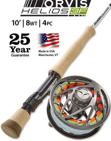 Orvis Helios 3F 10 Foot 8 Weight Fly Rod (Complete Outfit)