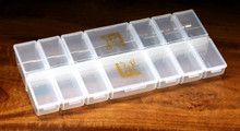 Hareline 12 Small / 2 Large Individual Compartment Box