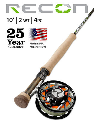 ORVIS RECON 2-WEIGHT 10' 4-PIECE FLY ROD (Complete Outfit)