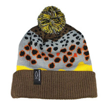 Rep Your Water Brown Trout Skin Knit Hat 2.0