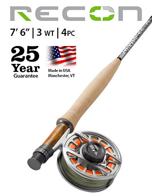 "ORVIS RECON 3-WEIGHT 7'6"" 4-PIECE FLY ROD"