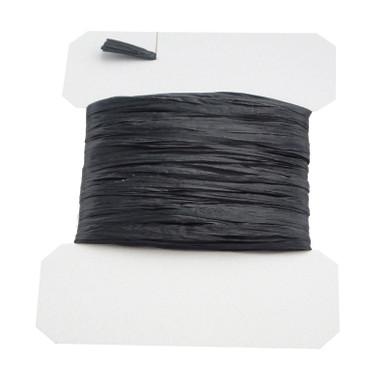 Swiss Straw (Raffia) Black