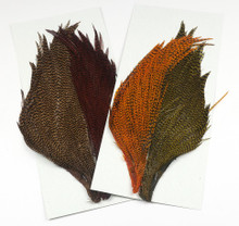Hareline Trout/Streamer Dyed Grizzly Starter Cape Set