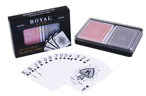 Royal plastic poker playing cards - 2 decks