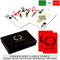 Fiori plastic playing cards by DA VINCI - Poker sized, Large index with hard shell case and cut cards