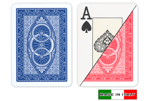 Ruote plastic playing cards by DA VINCI - Poker size, large index cards