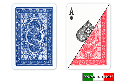 Ruote plastic playing cards by DA VINCI - Bridge size, Normal index cards