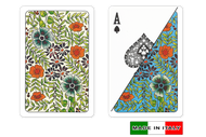 Fiori plastic playing cards by DA VINCI - Bridge size, Normal index cards
