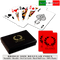 Fiori plastic playing cards by DA VINCI - Bridge size, Normal index cards with hard shell case & cut cards