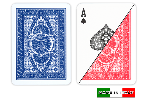 Ruote plastic playing cards by  DA VINCI - Poker size, Normal index