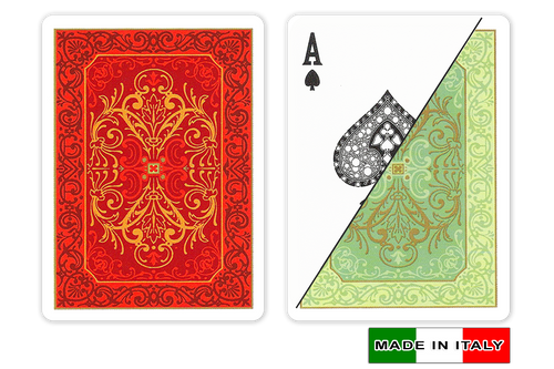 Persiano plastic playing cards by  DA VINCI - Poker size, Normal index cards