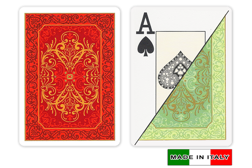 Persiano plastic playing cards by DA VINCI - Poker size, Large index cards