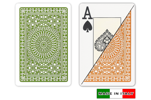 Palermo plastic playing cards by DA VINCI - Bridge size, Large index cards