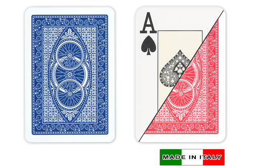 Ruote plastic playing cards by DA VINCI - Bridge size, Large index cards
