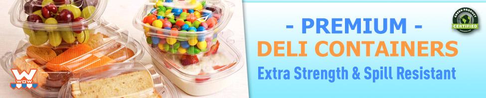 Wow Plastics Premium Deli Containers