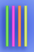 "COLOSSAL STRAW 6"" - NEON - 3/400 (1,200/case)"