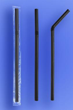 Flexi Black Super Jumbo Straw