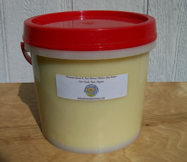 100% Organic Shea Butter, unscented, raw, unrefined, ASBI certified Grade A Nilotica Shea freshly packed in Uganda, and air shipped to the US for maximum freshness and minimum storage time.