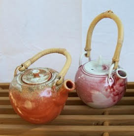 handmade pottery tea pots