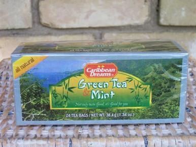 Green Tea & Mint Tea from Caribbean Dreams - vitalizing!