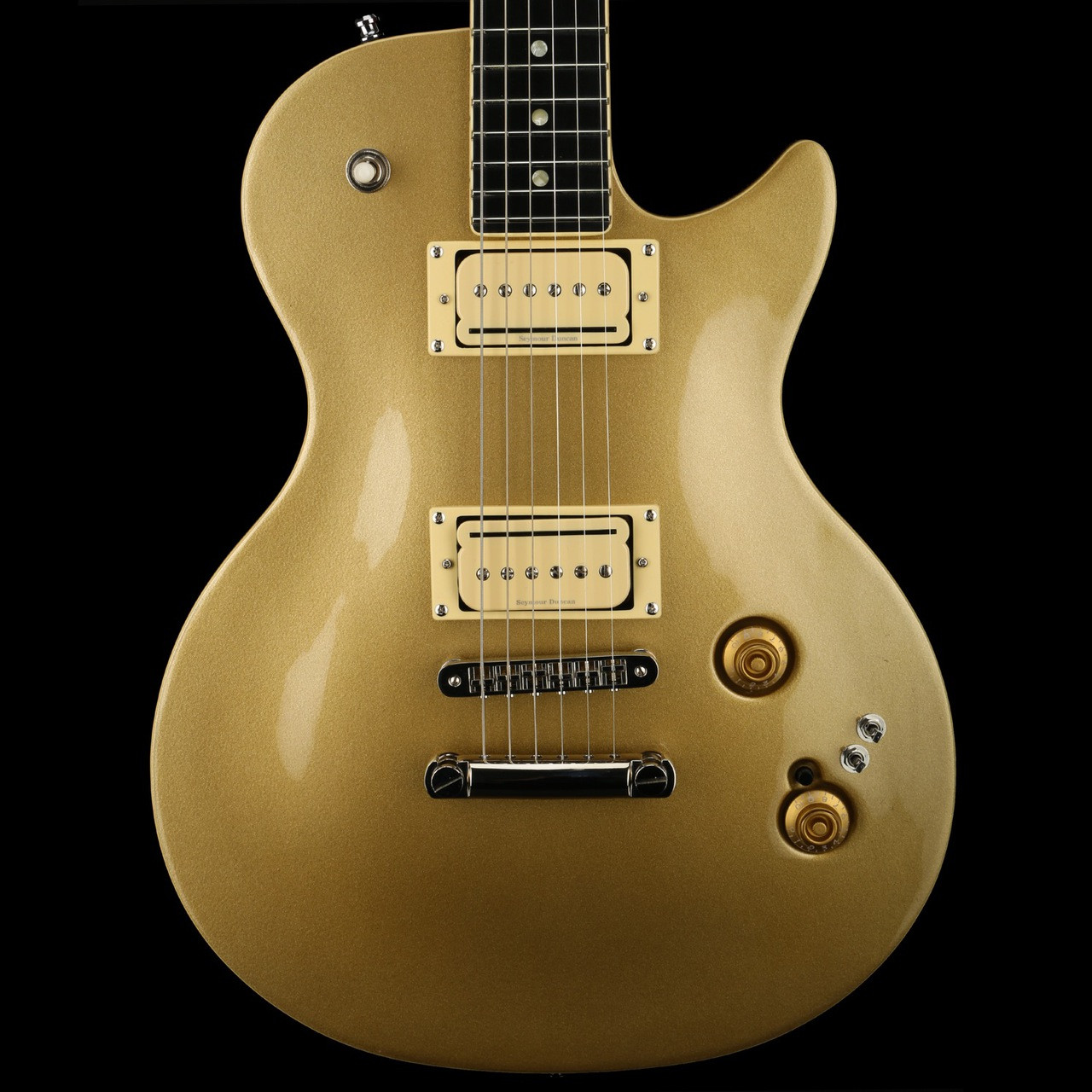 Godin Summit Classic CT Convertible, Seymour Duncan P-Rails in Gold HG with  Gigbag