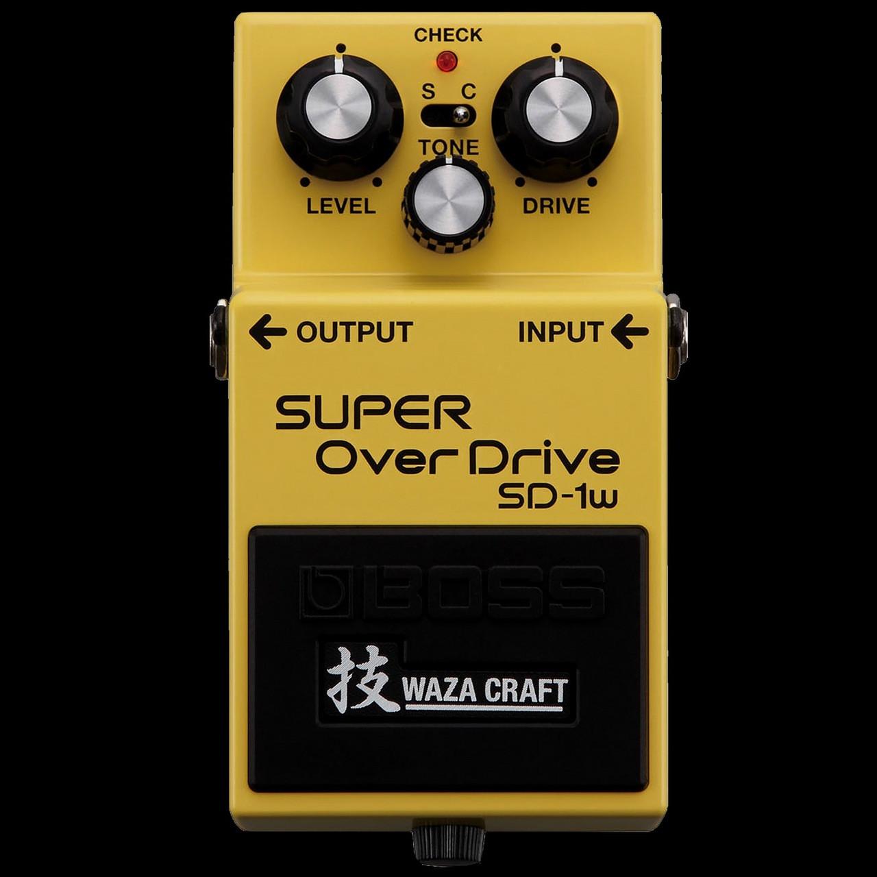BOSS SD1W WAZA Craft Super Overdrive Pedal