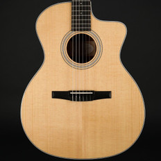 Taylor 214ce-N Nylon Classical Grand Auditorium Cutaway, ES-N with Hard Bag