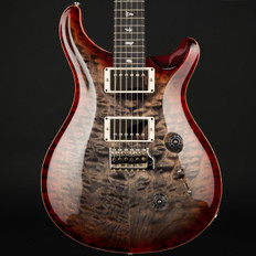 PRS Custom 24 Ltd in Charcoal Cherry Burst Quilt with Pattern Thin Neck, 58/15 Pickups #242165