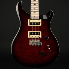 PRS Ltd Edition SE Custom 24 with Satin Maple Neck in Fire Red