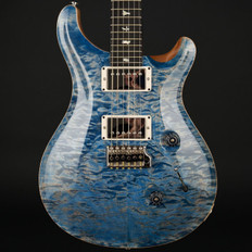 PRS Custom 24 Ltd in Faded Blue Jean Quilt with Pattern Thin Neck, 58/15 Pickups #244095