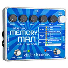 Electro Harmonix Stereo Memory Man With Hazarai Digital Delay/Looper Pedal
