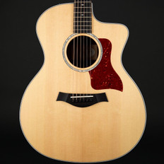 Taylor 214ce-CF DLX Deluxe Copafera/Sitka Grand Auditorium Cutaway, ES2 with Case #2102238454