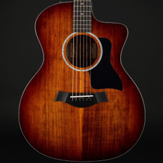 Taylor 224ce-K DLX All Koa Grand Auditorium Cutaway in Shaded Edge Burst, ES2 with Case #2101188365